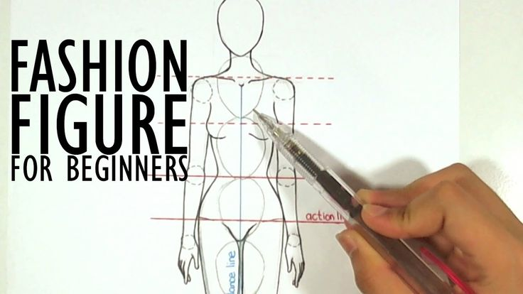 Beginners How to Draw a Fashion Croquis