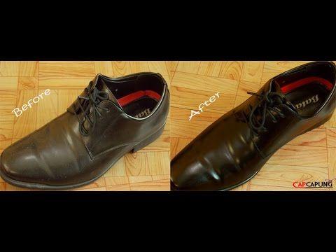 cara membersihkan sepatu kulit menggunakan telur (leather cleaner using ...
