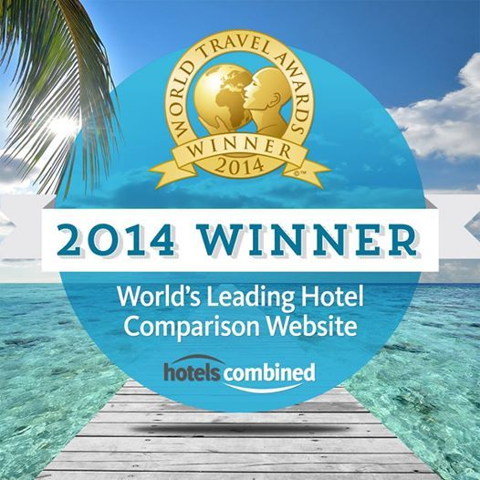 Photo: We've done it again!</p> <p>We're excited to announce that HotelsCombined.com have been named as the World's Leading Hotel Price Comparison Website for the second year in a row! </p> <p>The award was voted by travel and tourism professionals across the world and was presented at the 2014 World Travel Awards. Many thanks to everyone that voted for us this year!