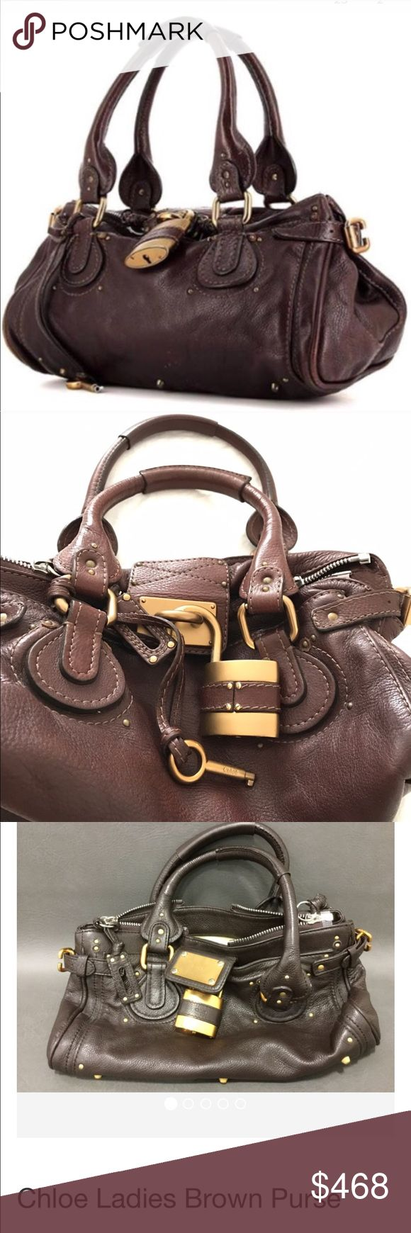 Chloe paddington authentic bag 💼 great condition Brown leather paddington , great condition 14x7x8  color differences due to lighting Chloe Bags Satchels