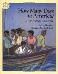 How Many Days to America? by Eve Bunting tells the story of refugees from a Carribean island as they set sail for America. Eve Bunting has several texts that work well for text to world connections, including The Wall {Vietnam War}, Fly Away Home {homelessness/poverty}, A Day's Work {other cultures}, Dandelions {westward movement in America} and Cheyenne Again {early Native Americans}.
