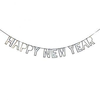 Buchstabengirlande, Happy New Year