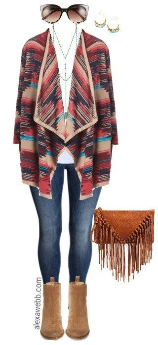 Plus Size Fall Cardigan Outfit - Plus Size Fashion for Women - alexawebb.com #alexawebb