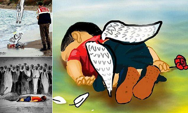 World shows its grief and anger over the death of Syrian toddler Aylan