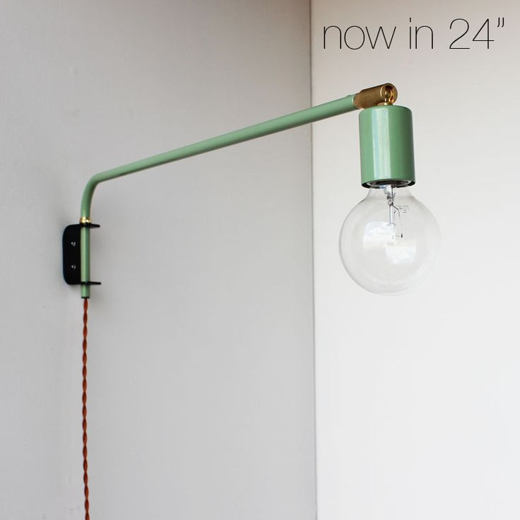Swing-arm wall lamp  (http://shop.onefortythree.com/product/seafoam-green-wall-lamp)- multiple colors & sizes