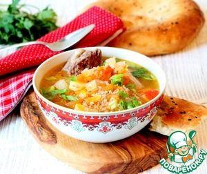 """Рецепт: Суп с пшеном """"Сок оши"""""""