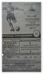 6 December 1952 v Bishop Auckland FA Cup Round 2 Won 4-1
