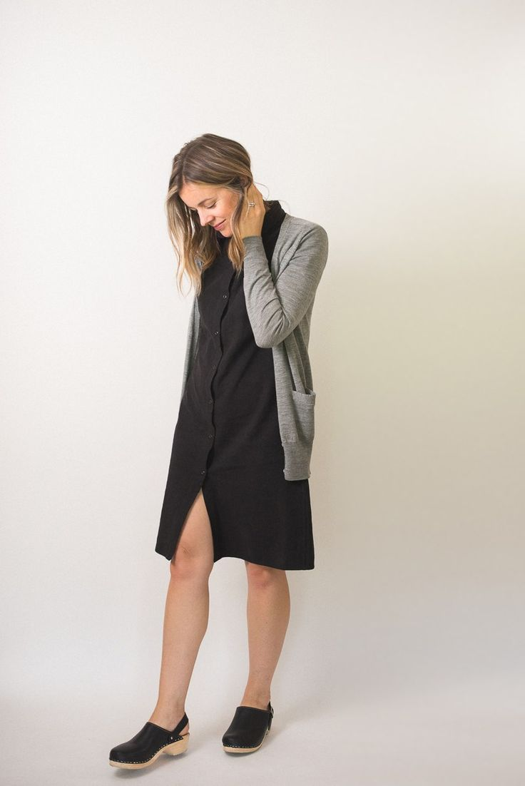 Bridge & Burn dress and traditional Swedish clogs by Lotta from Stockholm