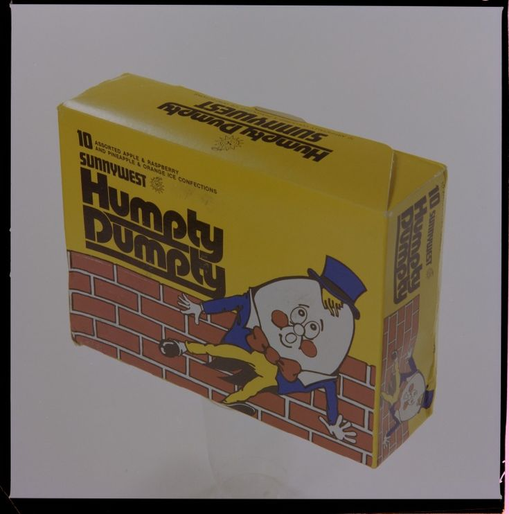 328531PD: Sunnywest Humpty Dumpty ice contections made in Western Australia, 17 October 1977 https://encore.slwa.wa.gov.au/iii/encore/record/C__Rb3135245