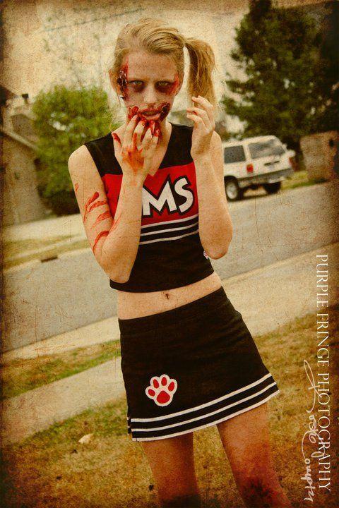 Zombie cheerleader! Purple Fringe Photography: Lexington, KY.