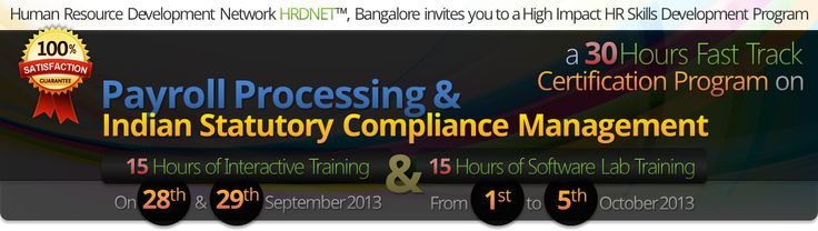 http://www.hrdnet.in/bookmyseat  Event Brochure: http://www.hrdnet.in/Payroll.pdf