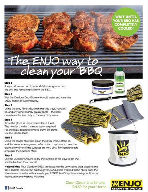 The ENJO way to clean your BBQ.