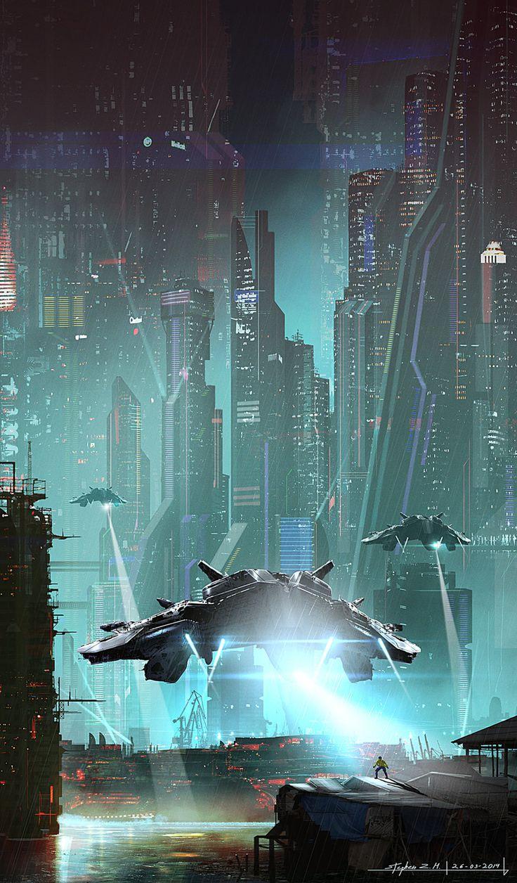 End of the Line by Stephen Zavala on ArtStation | Sci-fi vehicles ships futuristic city cyberpunk