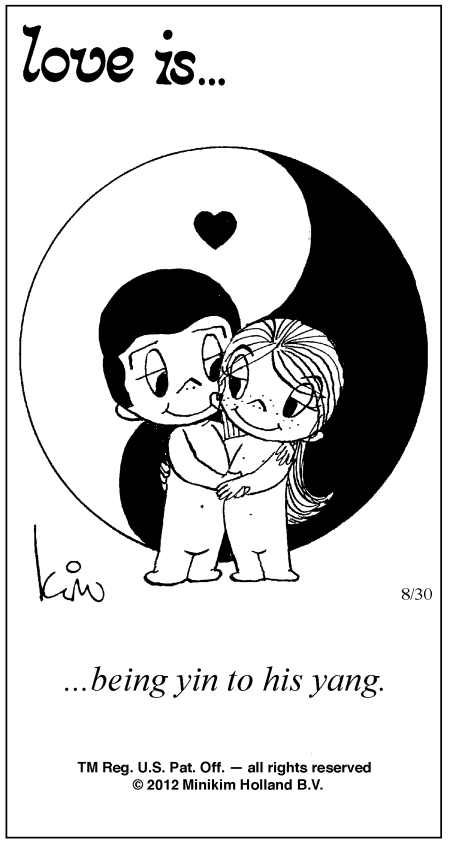 love is... comic strip yin to yang