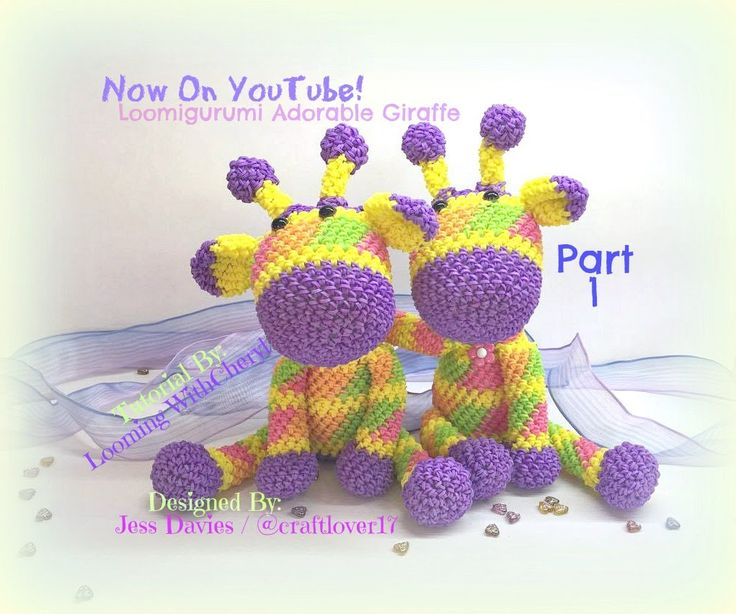 Rainbow Loom Adorable Giraffe (Part 1 of 3) Loomigurumi Amigurumi Hook Only Лумигуруми Жирафа * Stuffed Toy , Figures, Figurines, Animals *** Designed by Jessie Davies also known as @ craftlover17 on Instagram - You can find her here https://instagram.com/craftlover17 **** Tutorial By Looming WithCheryl