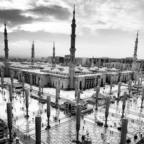 Al-Masjid an-Nabawī: The Prophet's Mosque One of the 3 Holy mosques.  Medina, Saudi Arabia     #MuslimLifeGoals