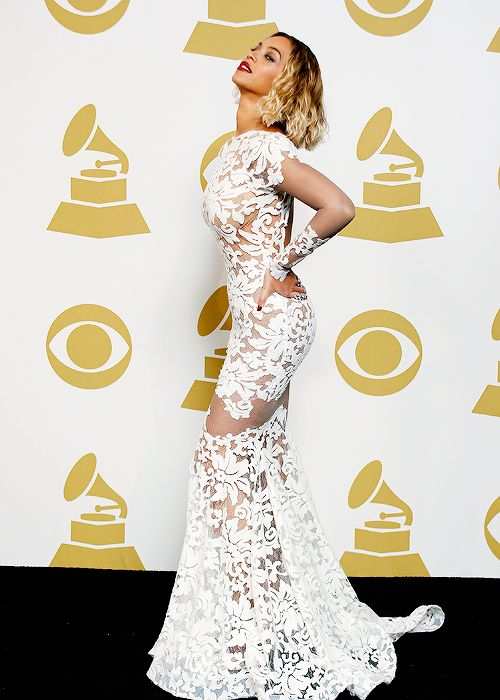 Beyonce in Michael Costello at the Grammys