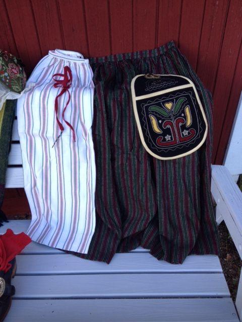 Förkläde, Kjol, Väska till Bydräkt, By sockendräkt.