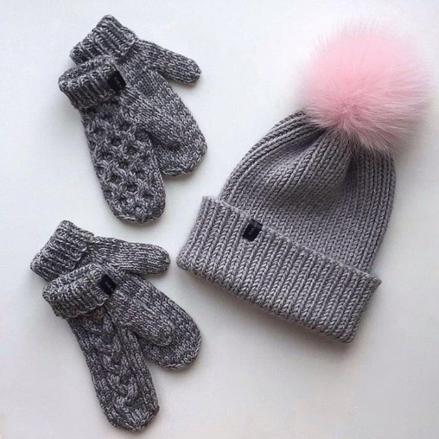 Привет Серого ну очень много в этом году Шапочка для мамы, а рукавички для дочек Отличного дня #iloveknitting#i_loveknitting#knitwithlove#knithat#вязаниеназаказ#вязание#вязанаяшапка#варежки#рукавички#вязаныеварежки#варежкиспицами#шапкабини#вяжутнетолькобабушки