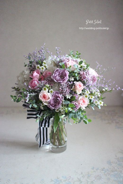 lavender and pink bouquet