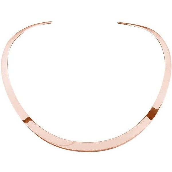 Ekria - Timeless Duo Necklace Shiny Rose Gold (465 AUD) ❤ liked on Polyvore featuring jewelry, necklaces, pendant choker necklace, chains jewelry, rose gold necklace, gold and silver chain necklace and chain choker