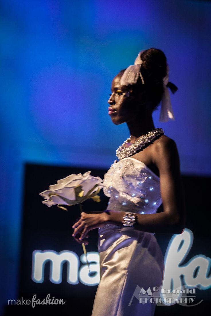Wedding Pant Suit | Designers: Virtually Vogue by Catherine Larose and Dianne Gibson | Model: Nyabuoy Gatbel | Hair: Kelsey Yule – ONE Beauty Academy | Makeup: Ivonne Arsenault Makeup Artistry | Photo: Jeff McDonald