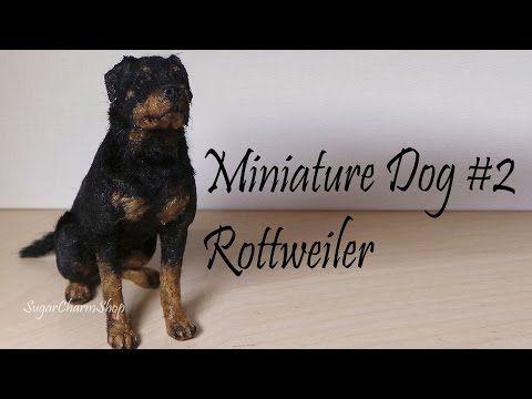 Polymer Clay Tutorial; Miniature Dog #2; Rottweiler - YouTube  sugarcharmshop