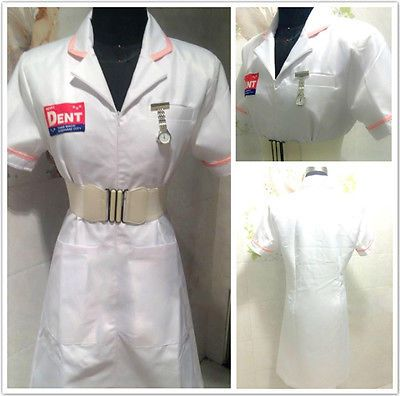 Batman #joker nurse #white uniform dress coat cosplay #costume*tailored*, View more on the LINK: http://www.zeppy.io/product/gb/2/272303784045/
