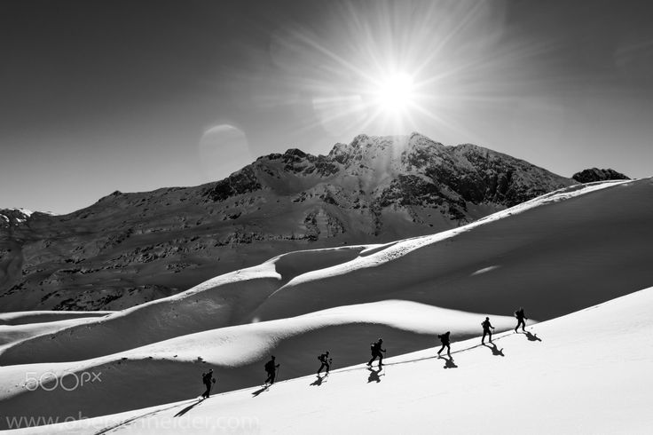 """Backcountry Ski Touring in the Alps - Ski touring in the Arlberg region, Austria. Image available for licensing.  Order prints of my images online, shipping worldwide via  <a href=""""http://www.pixopolitan.net/photographers/oberschneider-christoph-a6030.html"""">Pixopolitan</a> See more of my work here:  <a href=""""http://www.oberschneider.com"""">www.oberschneider.com</a>  Facebook: <a href=""""http://www.facebook.com/Christoph.Oberschneider.Photography"""">Christoph Oberschneider Photography</a> follow…"""