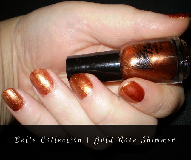 Leah beauty : Belle Collection ~ Rose gold Shimmer Nail Polish