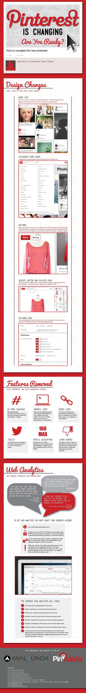 Infografia del nuevo Pinterest. 01/04/2013 #apariencia #pinterest #2013 #redes sociales