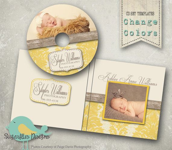 CD/DVD Label and Cover Templates - DVD Label Damask Wood