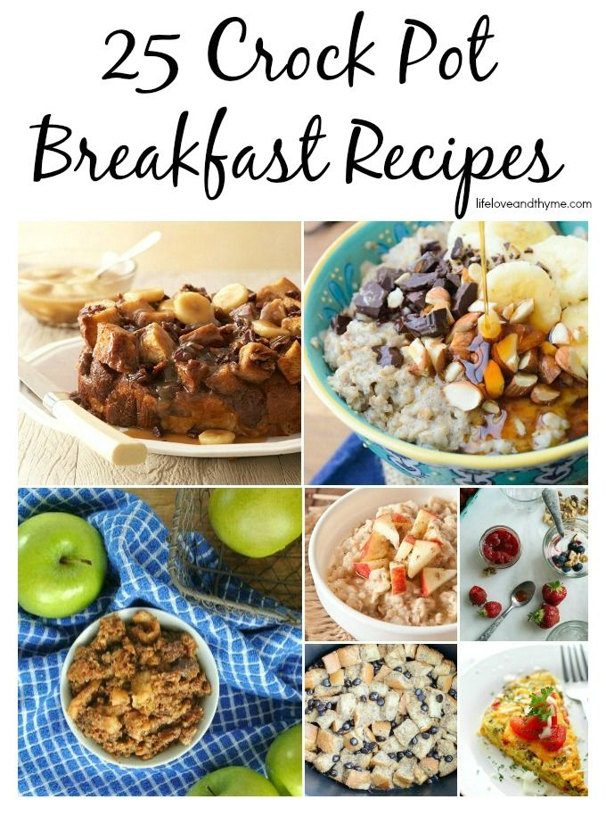 25 Crock Pot Breakfast Recipes - Set yourself up for easier morning with these breakfast ideas.