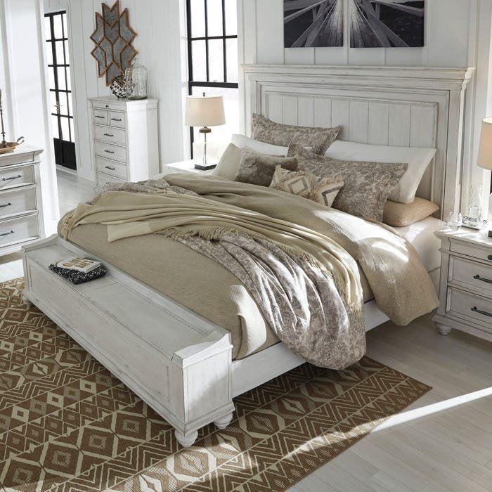 King Bedroom Set Cheap Kennedy Distressed Whitewashed King Bedroom Set In 2020 King Bedroom Sets Master Bedroom Furniture King Bedroom