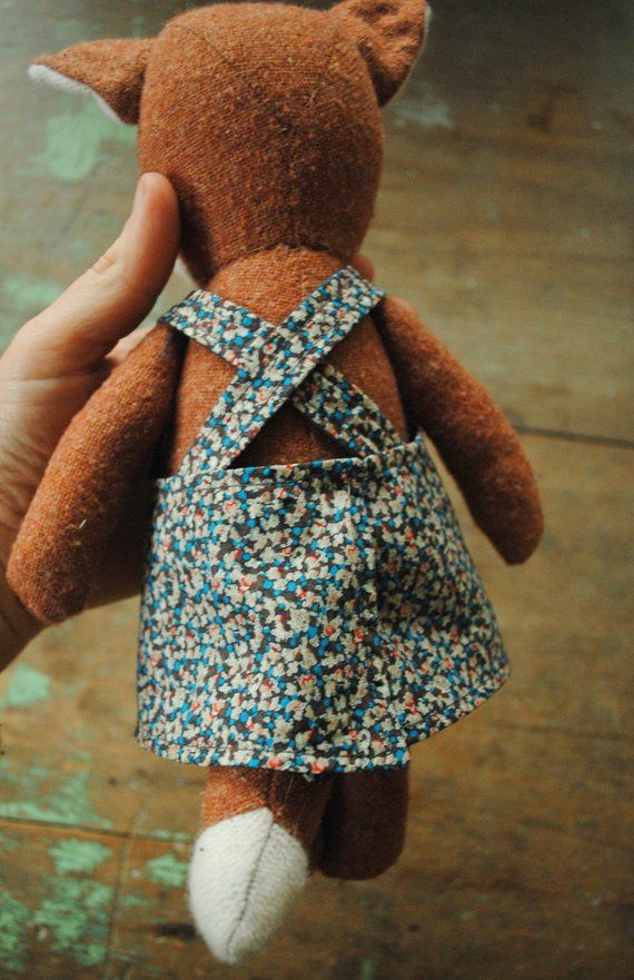 Teddy jacket sewing pattern toy dress pattern, doll clothes pattern