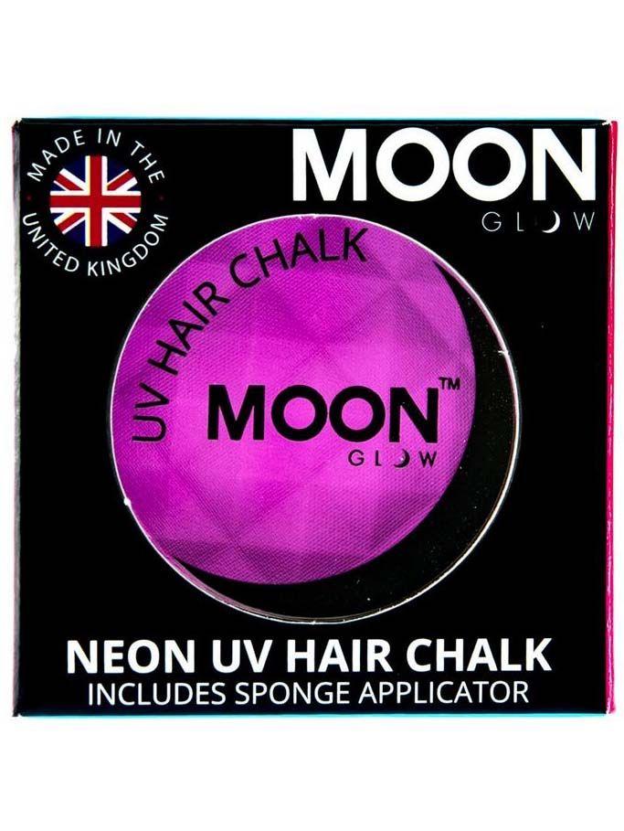 Crema para mechas de pelo violeta fluorescente UV 3,5 g Moonglow©: Esta crema para pelo Moonglow© es de color violeta. Brilla con luz ultra violeta.La esponja para la aplicación viene incluida. Se aplica en pelo húmedo.Completa tus disfraces de...