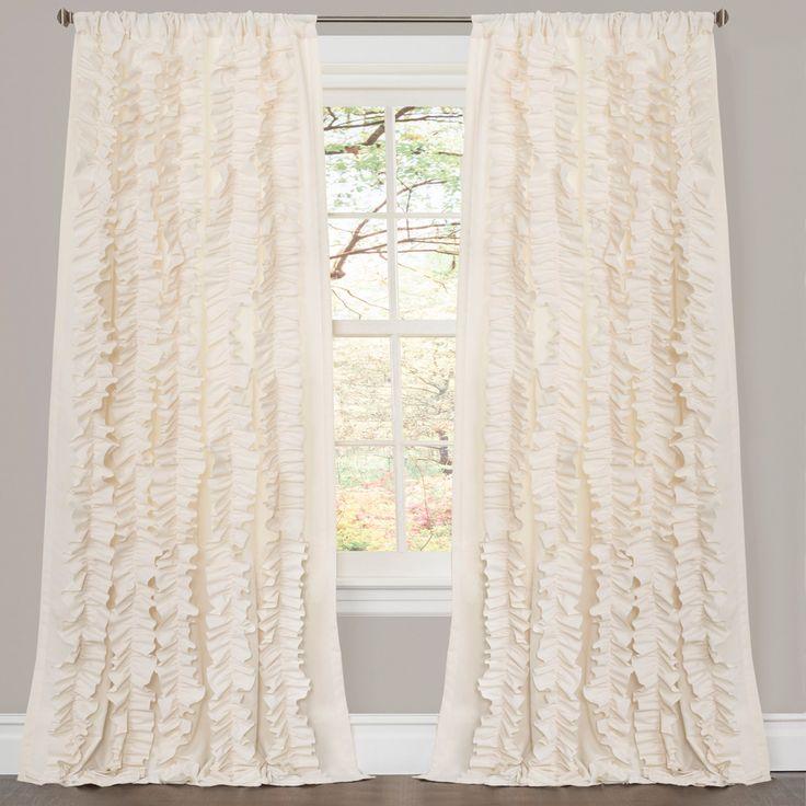 Lush Decor Bell Curtain Panel Pair with Optional Valance - TRIA111