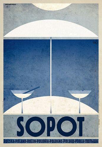 Sopot, polski plakat turystyczny