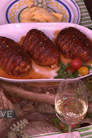 Bacon Wrapped Sausage Stuffed Chicken Breast -Myron Mixon Recipes | Steve Harvey Show