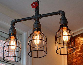 Ceiling Light - Industrial Light - Bar Light - Industrial Lighting - Steampunk…