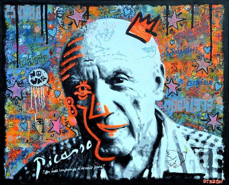 FOREVER YOUNG Portrait of Pablo Picasso by ARGADOL