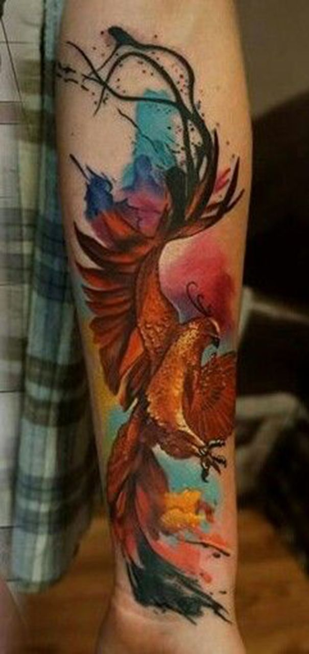 phoenix tattoo on arm