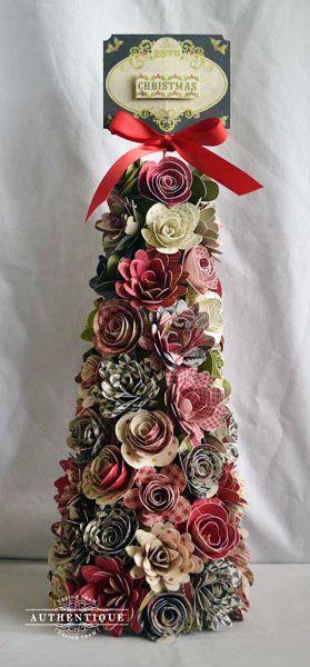 Árvore de Natal com papel presente
