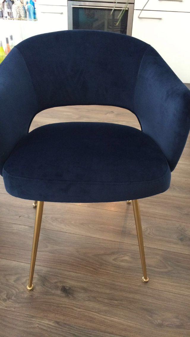 Pair of Blue Velvet Italian Chairs 1960s