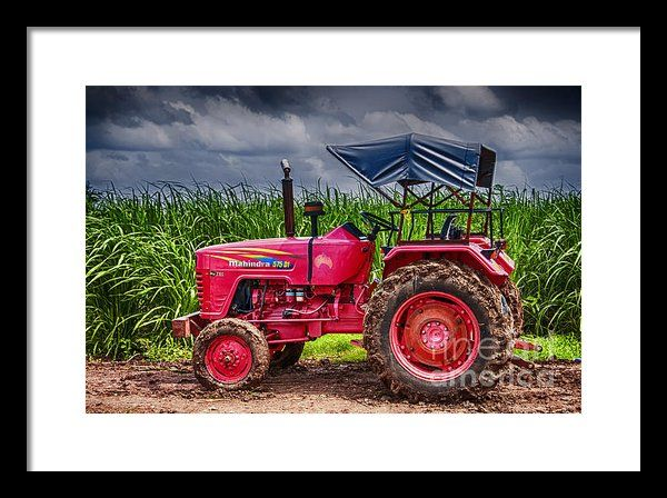 Tractor Framed Print By Charuhas Images