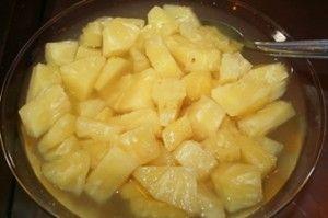 Receita de Abacaxi em calda