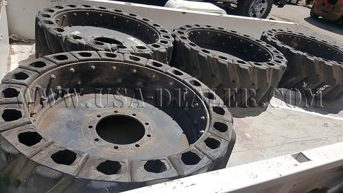 4 SKID STEER AIRBOSS TIRES AND RIMS: 4 Skid Steer AirBoss Tires and Rims 9 Lugs This site and all advertising information may be updated…