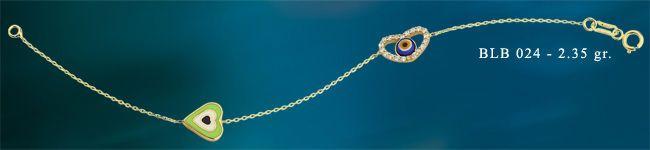 14K SOLID GOLD EVIL EYE GOOD LUCK ENAMEL LOVE BRACELET BLB024 #BeeloGold #Chain