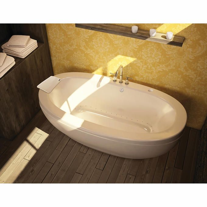 Inspiration Web Design Maax Reverie Freestanding Oval Tub Center Drain at Menards