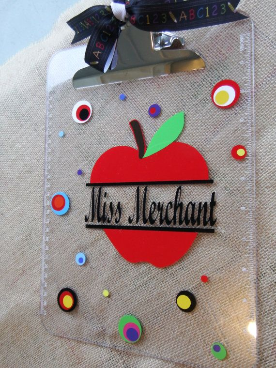 Teachers Personalized Clear Acrylic Clipboard By